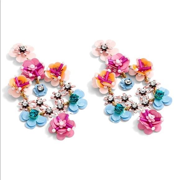 J CREW | Statement Stone & Blossom Earrings